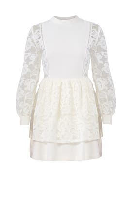 White Lace Layered Dress by English Factory
