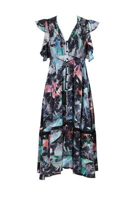 Printed Harrison Dress by Hunter Bell