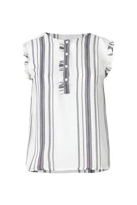 Striped Frill Top by JUNAROSE