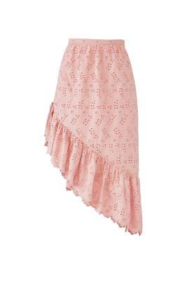 Pink Alana Skirt by LoveShackFancy