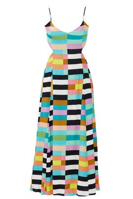 Rainbow Flag Stripe Maxi Dress by Mara Hoffman