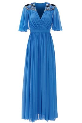 Blue Lupita Gown by Badgley Mischka