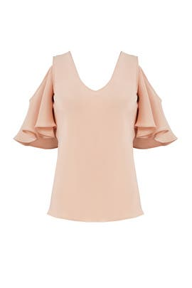 Pink Flutter Top by DEREK LAM