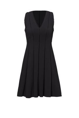 Black Diamond Texture Dress by Rebecca Taylor