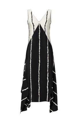 Striped Silk Handkerchief Dress by Derek Lam 10 Crosby