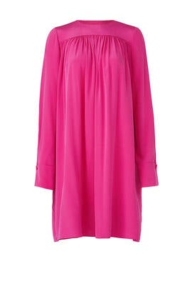 Ribbon Pink Tent Dress by Diane von Furstenberg