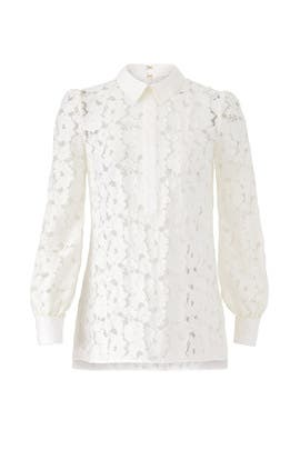 Sheer Lace Nicola Top by Rachel Zoe