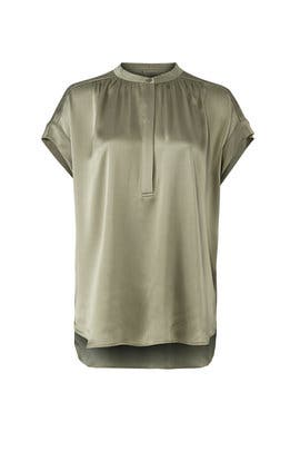 Sage Shirred Blouse by VINCE.