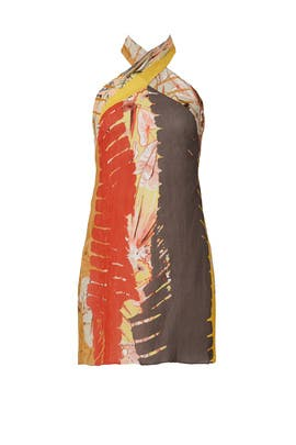 Printed Tribal Halter Dress by Josie Natori