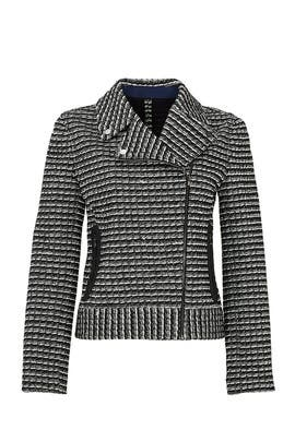 Motorcycle Stripe Tweed Jacket by Tory Burch