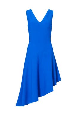 Cobalt Blue Asymmetrical Dress by Milly