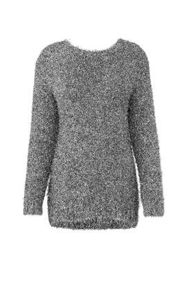 Silver Fringe Sweater by Milly