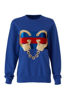 Blue Handcuffs Sweatshirt by Nil & Mon