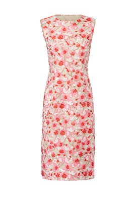 Pink Floral Sheath by Prabal Gurung