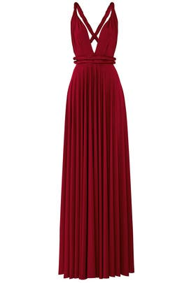 Burgundy Classic Convertible Gown by twobirds
