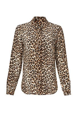 Leopard Button Down by Equipment