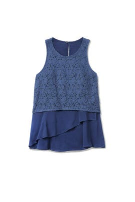 Denim Empire Flounce Top by Derek Lam 10 Crosby