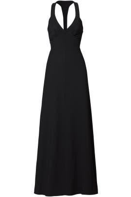 Black Plunge Gown by DEREK LAM
