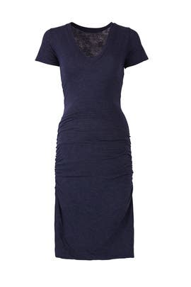 Navy Short Sleeve Maternity Dress by MONROW