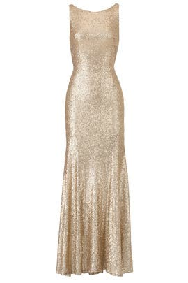 Gold Gemma Gown by Theia