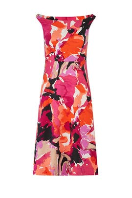 Graphic Floral Dress by Trina Turk