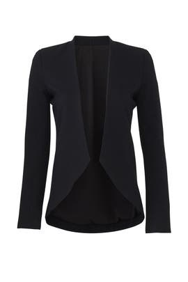 Black Sculpted Blazer by BLAQUE LABEL