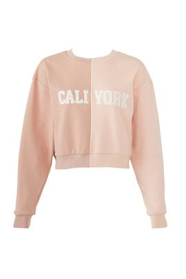 Pink CaliYork Sweatshirt by Cynthia Rowley