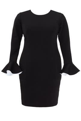 Black Flounce Sleeve Dress by ELOQUII