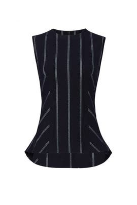 Pinstripe Shell Top by Derek Lam 10 Crosby