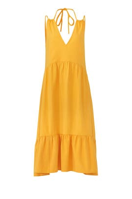 Yellow Lita Midi Dress by M.i.h. Jeans