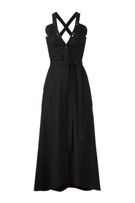 Deep Back Midi Dress by Nina Ricci