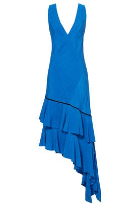 Azure Blue Ruffle Dress by Prabal Gurung