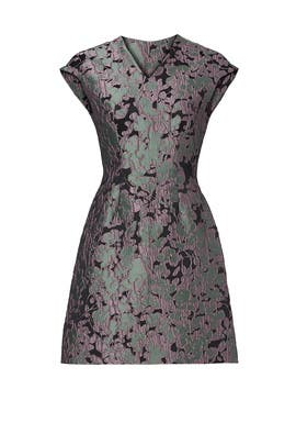 Lavender Jacquard Dress by Josie Natori