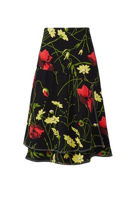 Poppy Print Skirt by Jason Wu Grey