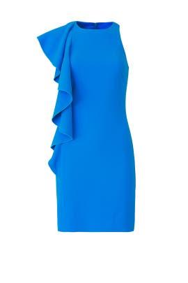 Blue Crescent Dress by Trina Turk