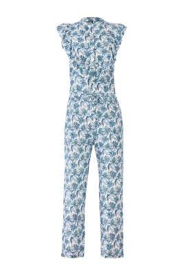 Blue Dandelion Rose Jumpsuit by Banjanan