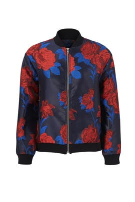 Rose Print Bomber Jacket by Endless Rose