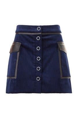 Navy Corduroy Drea Skirt by Ramy Brook