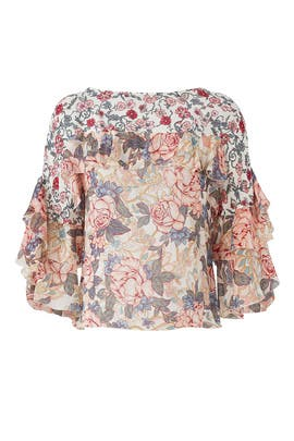 Mixed Floral Printed Top by See by Chloe