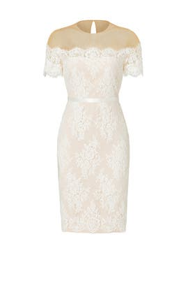 Ivory Lace Cocktail Sheath by Marchesa Notte
