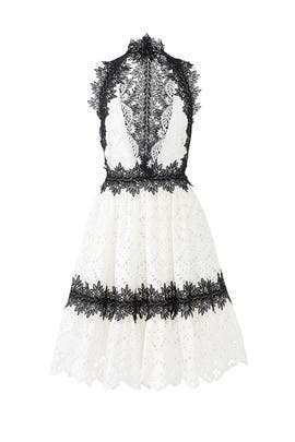 White Lace Cocktail Dress by NAEEM KHAN