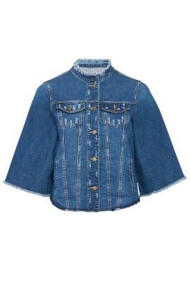 Bell Sleeve Denim Jacket by Rachel Rachel Roy