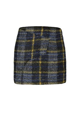 Plaid Wrap Skirt by Derek Lam 10 Crosby