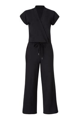 Black Sweatshirt Jumpsuit by KINLY