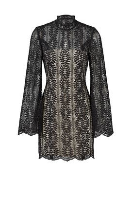 Black Uptown Lace Dress by Keepsake