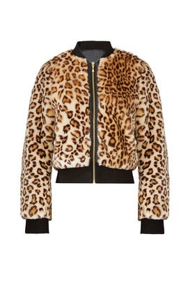 Leopard Faux Fur Bomber by kate spade new york