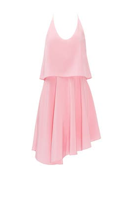 Pink Silk Double Layer Dress by Tibi