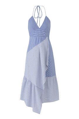 Collage Shirting Dress by Tibi