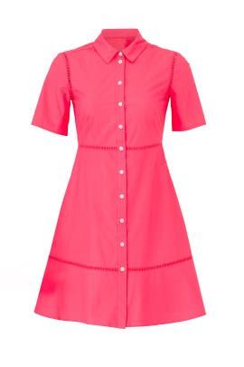 Poplin Lattice Shirtdress by Draper James