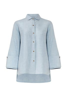 Chambray Oversize Shirt by Halston Heritage